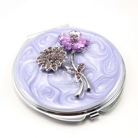 luxury metal gift sqaure pocket mirror with epoxy doming factoryHQCM290291