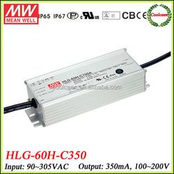 Meanwell 70w led driver 350ma HLG-60H-C350