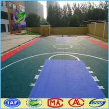 outdoor plastic material basketball court floor used for basketball