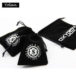 Black Velvet Drawstring bag, velvet Drawstring Pouch, Velvet Gift Bag
