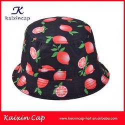 2015 oem high quality lovely free pattern children bucket hat