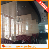 Wholesale clear round crystal bead curtain S0566 for restaurant decoration