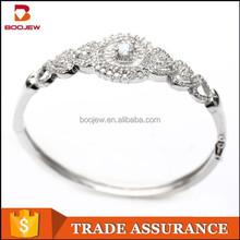 fine charming bangle bracelet, luxury 925 sterling silver bangle, vintage manufacturer fashion jewelry