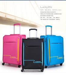 Hot promotion high quality 3pcs nylon and PP material luggage sets