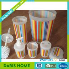New colorful design plastic bathroom accessory sets, PP bath set for kids