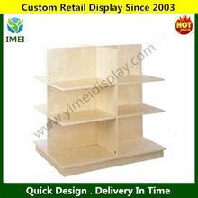 POP customer design tall wood display cabinet/wood bread display rack/wood food display rack