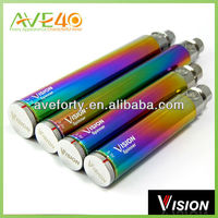 2014 Wholesale Vision battery Vision Spinner 1300mah rainbow cartomizer