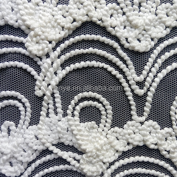 2015 Hot Sale 100 Polyester Ribbon Work Embroidery Fabric
