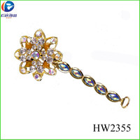 magic wand shape HW2355 yiwu acrylic rhinestone sandals shoes accessories for child