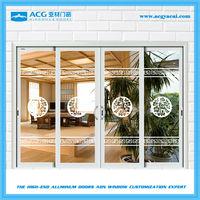 security exterior powder coated sliding door,4 panels sliding doors