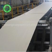 2014 dongguan paper gray cardboard sheet 1mm recycle paper roll