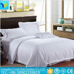factory direct sale 100% cotton plain luxury hotel bedding set/ hotel bed linen