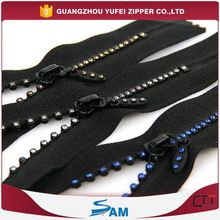 sports clothes zipper with diamond for sales