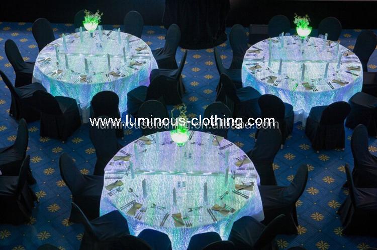 Led Fashion Fiber Optic Lighting Luminous Table Cloth   Buy Optic ...