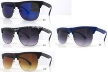 2015 popular designer sunglasses imitations with half metal wire