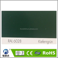 Powder paint interior glossy smooth RAL6028 Pine green