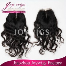 Large Stock Middle Part Virgin Peruvian Hair Lace Closures