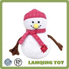 Cute Promotional Christmas Decoration Plush Snowman