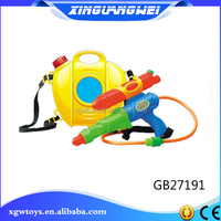 Summer Toy Cartoon Plastic Water Gun With Backpack