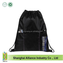 Wholesale Black Small Nylon Mesh Drawstring Bag