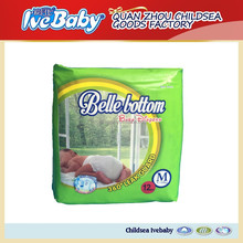 2015 new products disposable sleepy plastic backed baby diaper