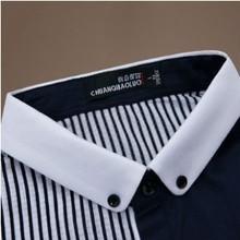 ผ้าฝ้าย100%เสื้อปุ่มลงเสื้อคอปกสูงมองเห็นเสื้อขายส่ง