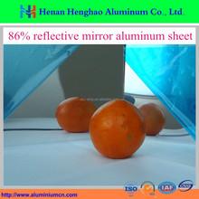 0.2mm - 0.8mm 86% solar reflective aluminum mirror sheet for sale
