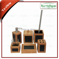Eco-Friendly Feature and Bamboo Material bathroom set