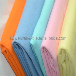 wholesale customT/C 100% cotton dying flannel fabric for bed-sheeting