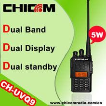 Dual band radio bidireccional portátil de alta potencia de dos