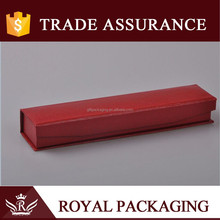 long size lizard skin pattern red leather paper box with foam liner for jewelry pen gift packaging