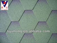 Asian Green asphalt shingles