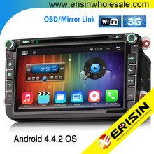 """Erisin ES9405A 8"""" Pure Android 4.4.2 Car DVD Player Koda Golf 5 6 Touran"""