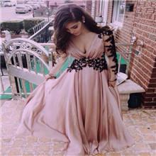 Cap рукава бисером стразами Золотой кружевной аппликацией дорого вечернее платье сексуальный русалка вечерние платья от Дубая 81891p
