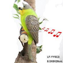 decoration polyreisn motiosn sensor parrot for gift