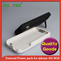 SINOTEK 3000mAh power for iphone 4/4S battery case+100%Tested one by one