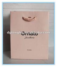 Luxury logo printed cosmetic paper shopping bag