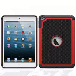 PC Silicone football textured Hybrid combo case for ipad mini 4, for ipad mini 4 hard case