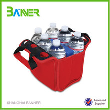 Top sell promotional colorful printed neoprene water bottle cooler bag