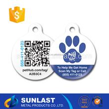 Sunlast Personalised shaped logo pet id name charm metal badge Dog Tag OEM6017