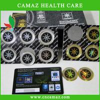 Against EMF/EMR mobile phone quantum shield/ round anti radiation sticker, OEM