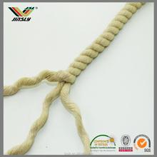 8mm Garment cap shorts colored colored kuralon braided flat cotton rope