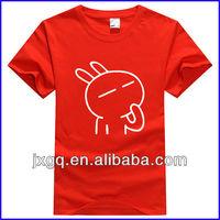 Custom screen print tshirt men cheap plain round neck promotional tshirt wholesale