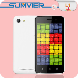 4INCH MTK6572 Dual Core WVGA 512MB 4GB 0.3MP 2.0MP Android 4.4 1500mAh big battery cheap mobile phone