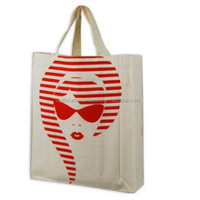2015 hot sell blank canvas cotton tote bag/traveling recycle bag