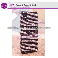 Bling zebra cases for iphone 4 fashion case phone accessories