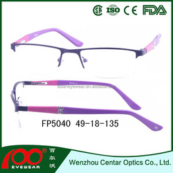 fashion eyewear optical frame latest glasses frames for girl metal optical frame