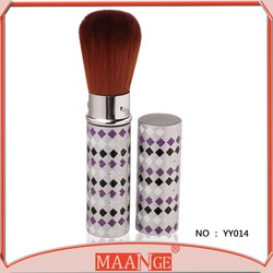 Makeup brush high quality retractable powder brush with little crystal cover