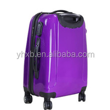 Fashion Hot Sell purple PC Luggage /carry on luggage /Travel Luggage