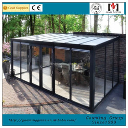 Customized Aluminum Winter Garden,Garden Flat Roof Glass House 3198